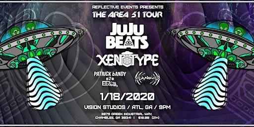 Area 51 Tour: JuJu Beats, Xenotype, Shakes, Patrick Bandy B2B FRCTL