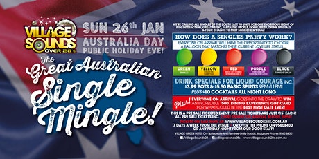The Great Australian Single Mingle at Village Sounds 28s! tickets