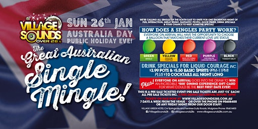 The Great Australian Single Mingle at Village Sounds 28s!