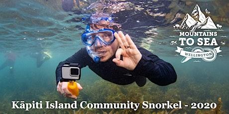 Kapiti Island Marine Reserve - Community Snorkel 2020 tickets