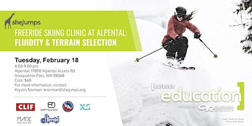 WA SheJumps Freeride Clinic at Alpental: Fluidity & Terrain
