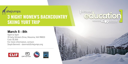 WA SheJumps Three Night Women's Backcountry Skiing Yurt Trip
