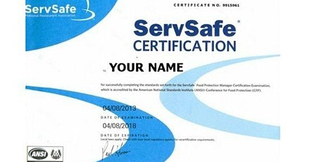 Servsafe Online Manager Exam | Proctor Hartford Connecticut tickets
