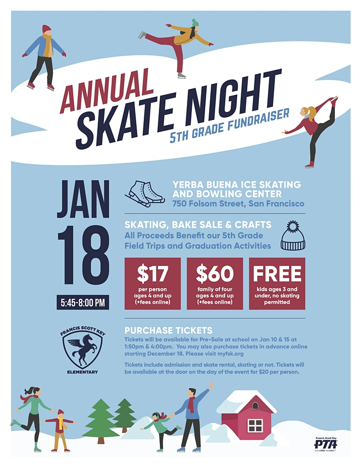 Annual Skate Night 5th Grade Fundraiser image