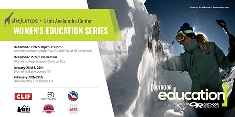 UT SheJumps and Utah Avalanche Center Women's Education Series tickets