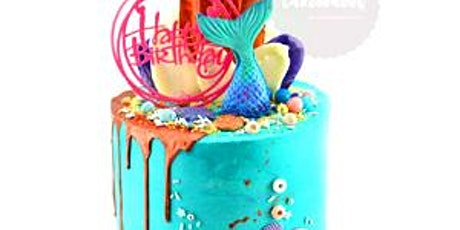 Buttercream and Fondant Mermaid Drip Cake Class tickets
