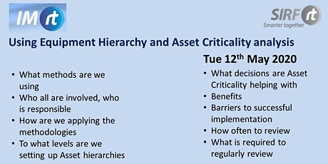 VICTAS Using Equipment Hierarchy and Asset Criticality analysis tickets