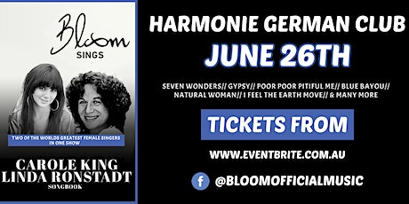 Bloom Sings the Carole KIng & Linda Ronstadt Song Book tickets