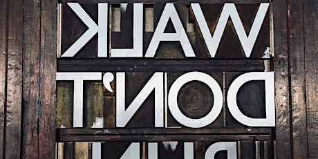 Workshop: Traditional Letterpress Printing with Nick Hand - lead type tickets