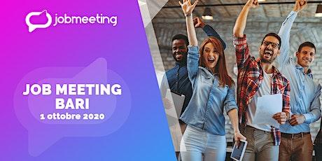 Job Meeting Bari: il 1 ottobre incontra le aziende che assumono! biglietti