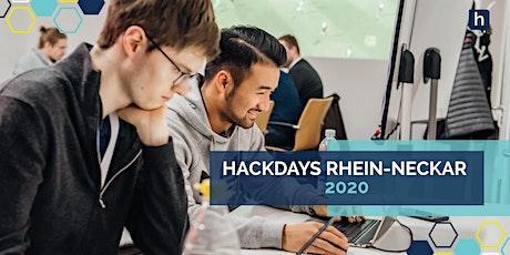 Hackdays Rhein-Neckar 2020 billets