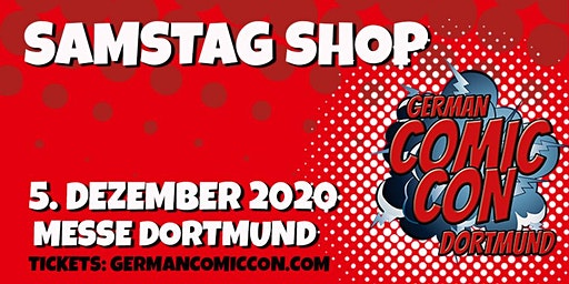 German Comic Con Dortmund 2020 - SAMSTAG Shop