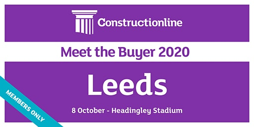 Leeds Constructionline Meet the Buyer 2020