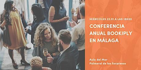 Conferencia anual Bookiply en Málaga entradas
