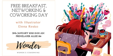 Networking & Coworking Breakfast - Illustration and what do you eat it with tickets