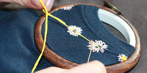 Intro to Embroidery and Embroidered Upcycling