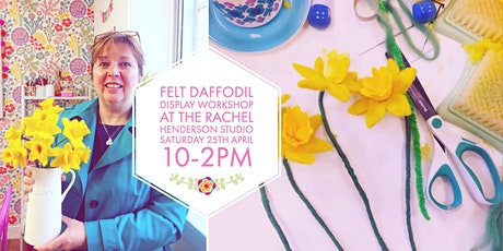 Needle Felted Daffodil Display tickets