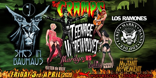 Teenage Werewolves(Cramps tribute)Shes In Bauhaus/Los Ramones WOLVERHAMPTON
