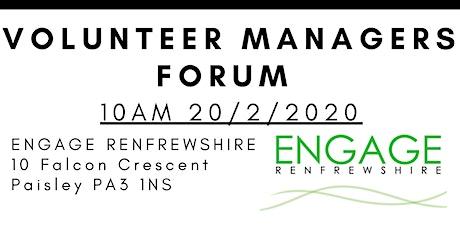Renfrewshire Volunteer Mangers' Forum tickets