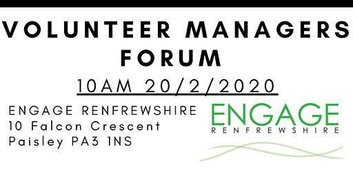 Renfrewshire Volunteer Mangers' Forum