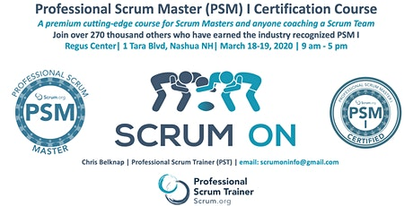Scrum.org Professional Scrum Master PSM I - Nashua NH - March 18-19, 2020 tickets