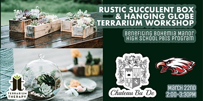 Rustic Succulent Box and Hanging Globe Terrarium Workshop