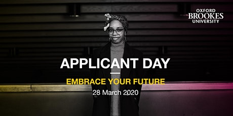 Oxford Brookes Applicant Day - Oxford - 28 March 2020 tickets