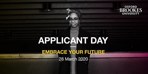 Oxford Brookes Applicant Day - Oxford - 28 March 2020