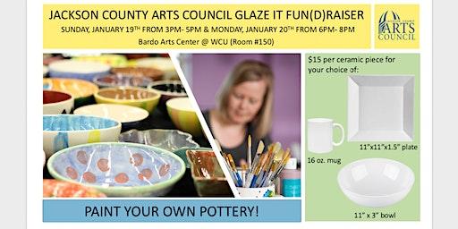 Glaze It! FUN(d)raiser for Jackson County Arts Council
