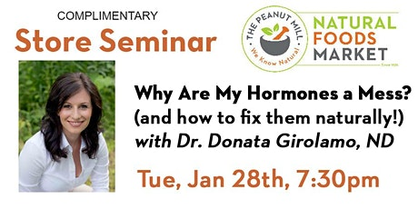 Why Are My Hormones A Mess? (and  how to fix them naturally!) tickets