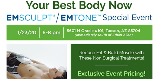 Accelerated Body Evolution EMSCULPT and Emtone Body Sculpting Event
