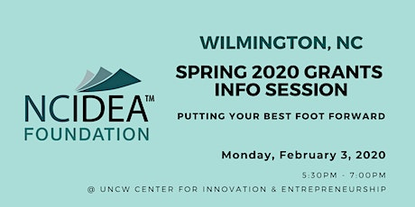 NC IDEA Spring 2020 Grants Information Session (Wilmington) tickets