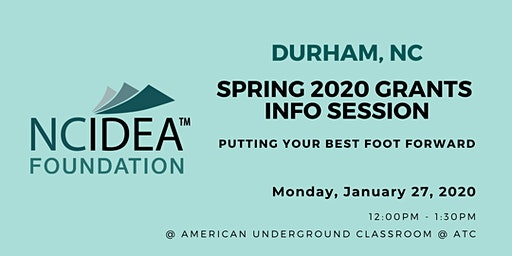 NC IDEA Spring 2020 Grants Information Session (Durham)