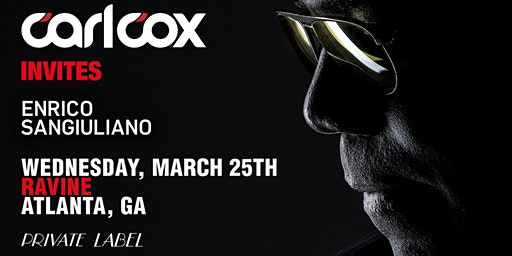 Private Label: Carl Cox Invites Enrico Sangiuliano