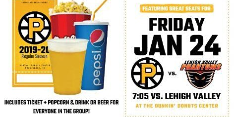 RIC Spirit Night at the Providence Bruins