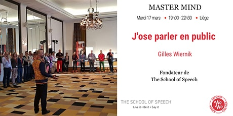 Master Mind - J'ose parler en public, Gilles Wiernik - Liège tickets