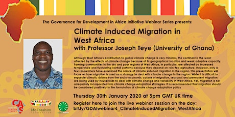 GDAI Webinar #4 - Climate Induced Migration In West Africa billets