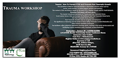 Trauma Workshop: How To Prevent PTSD & Promote Post Traumatic Growth tickets
