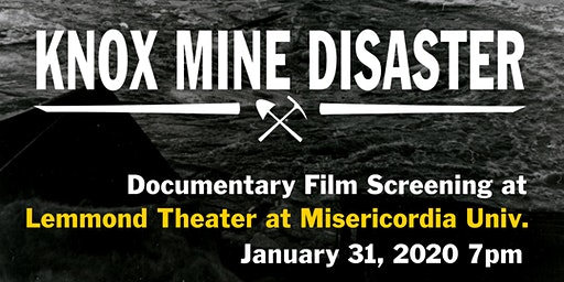 Knox Mine Disaster Documentary Film Screening w/ Lex Romane