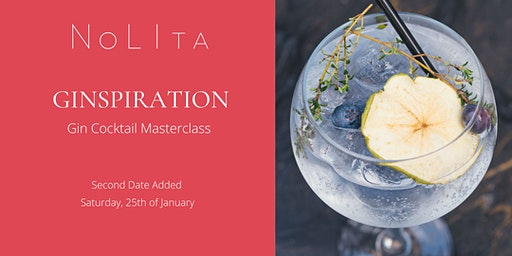 Ginspiration: Gin Cocktail Masterclass at NoLIta (Second Date Added)