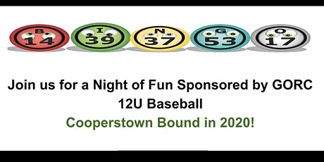 Designer Bag Bingo GORC 12u Baseball  tickets
