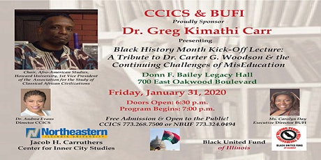 A Tribute to Dr. Carter G. Woodson & the Continuing Challenges of Mis-Education  tickets