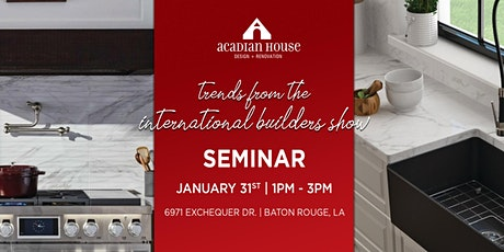 Trends from the International Builders Show tickets