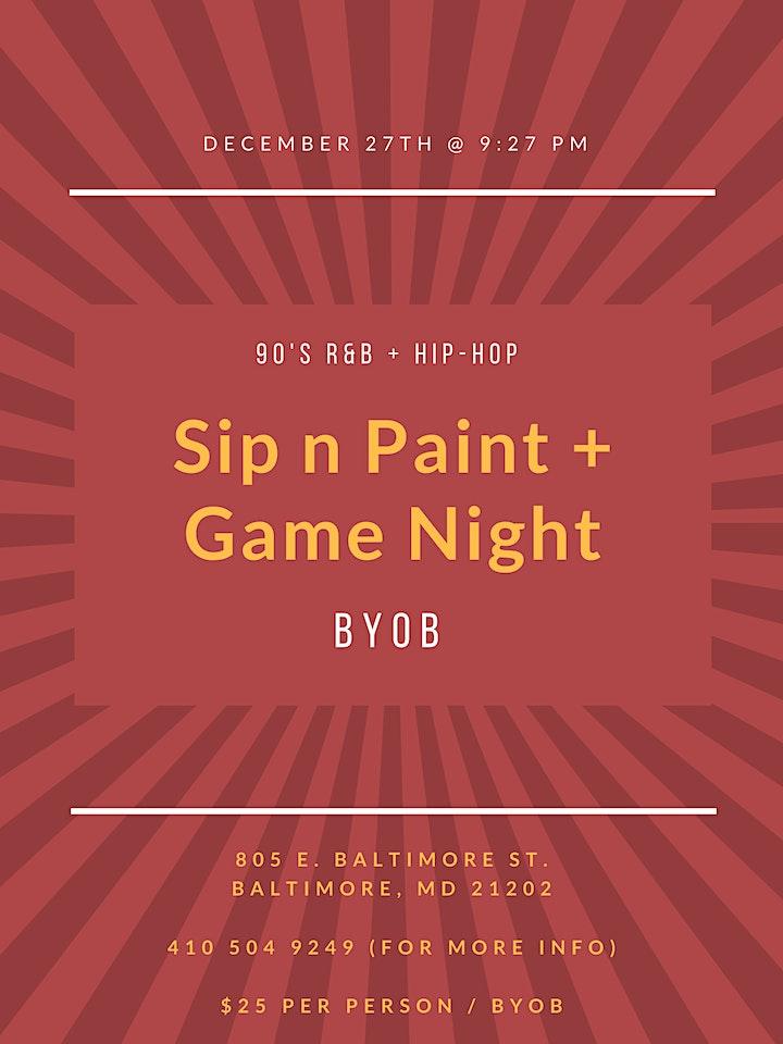 90 S R B N Hip Hop Night Sip Paint And Play At An Art Gallery