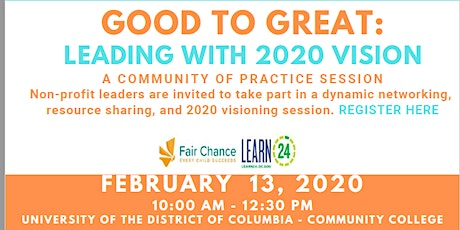 Good to Great:  Leading with 2020 Vision tickets