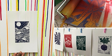 Lino print your own A4 posters (with BYOB) tickets
