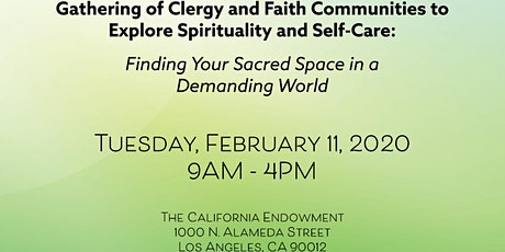 Gathering of Clergy and Faith Communities - Spirituality and Self-Care tickets