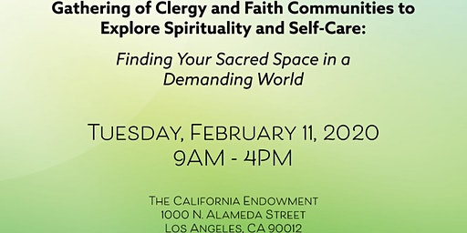 Gathering of Clergy and Faith Communities - Spirituality and Self-Care