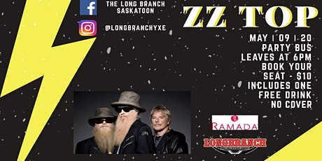 ZZ TOP Longbranch Party Bus to and from Concert tickets