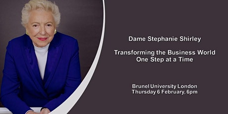 Dame Stephanie Shirley: Transforming the business world one step at a time tickets